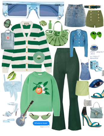 green and blue color combo