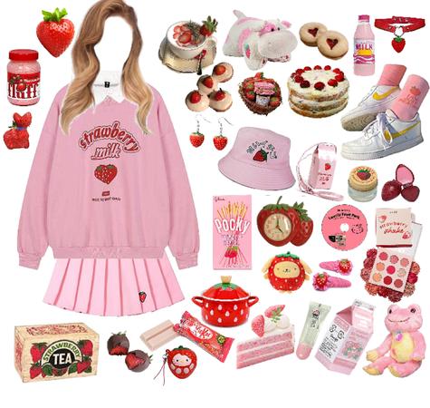 strawberry 🍓❤️✨☁️