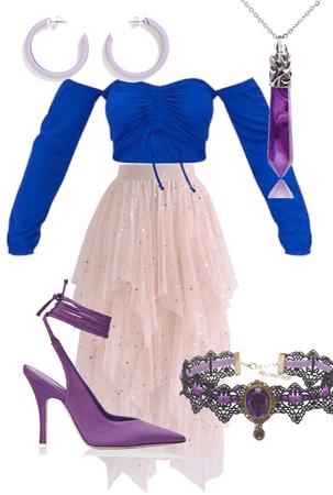blue pink purple