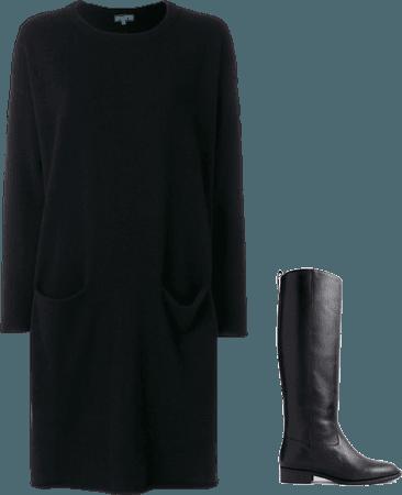 Black Sweater Dress- 4/6/18
