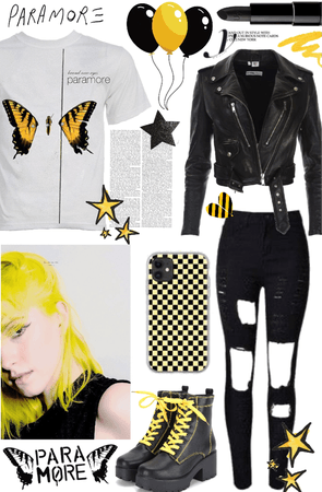 Hayley Williams black and yellow