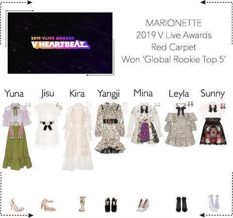 MARIONETTE (마리오네트) 2019 V Live Awards | Won 'Global Rookie Top 5'