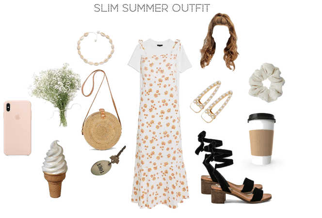 slim summer outfit