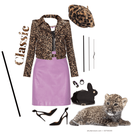 Leopard, Leather, and a Pop of Purple!