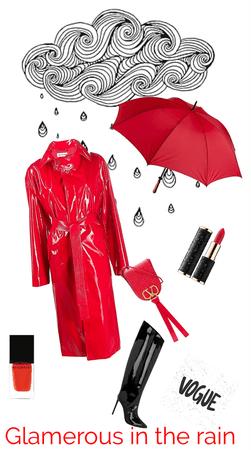 glamorous in the rain
