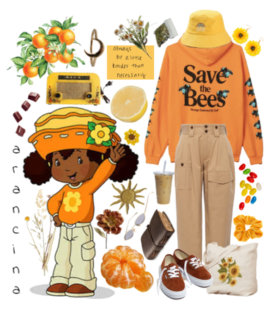 orange blossom inspired outfit