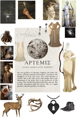 Artemis goddess of wild animals and protector of children