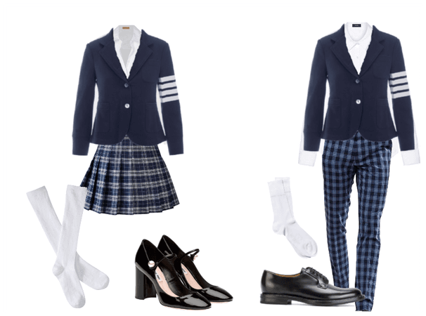 Blue Plaid School Uniforms