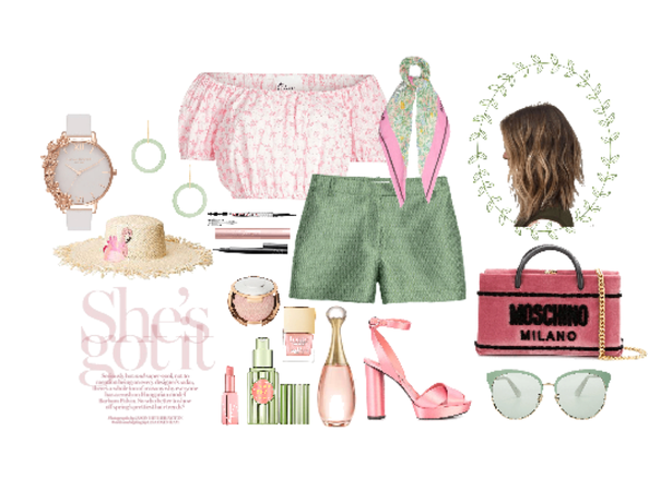 Day look #5 - pastels - green/pink