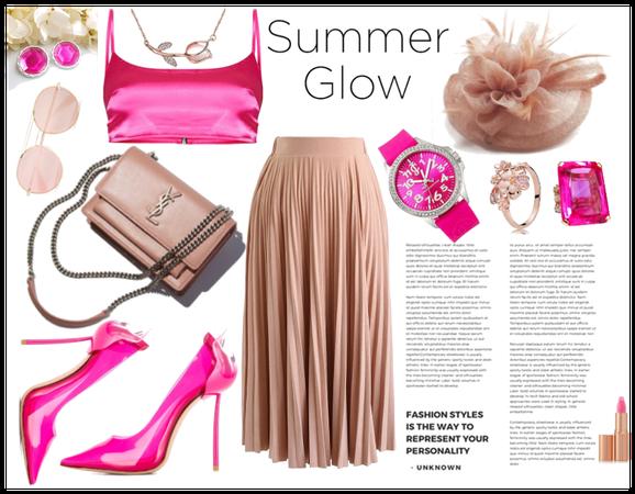 pink summer glow