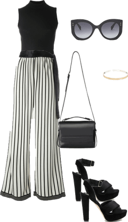 How to wear striped Palazzo Pants