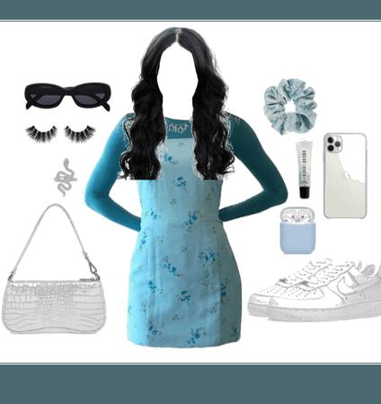 Normal aesthetic blue fittt