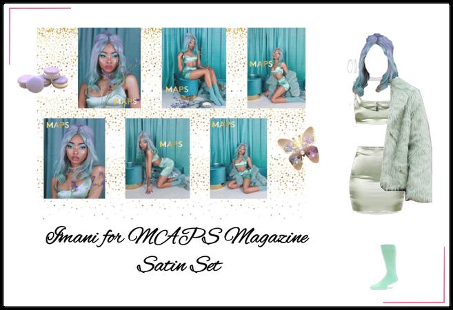 Imani for MAPS Magazine | Satin Set