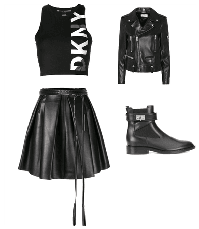 pricey leather biker chic