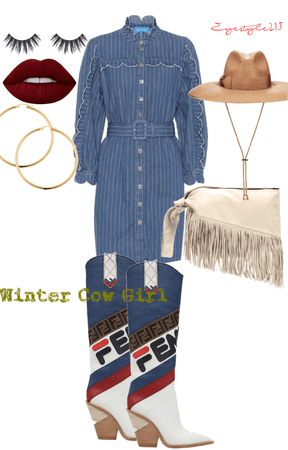 Winter Cow Girl