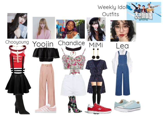 Star's Weekly Idol outfits