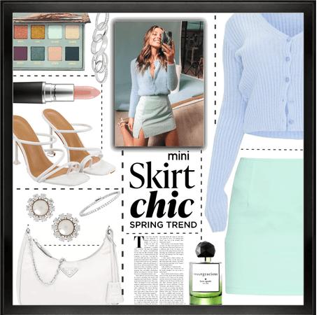 mini skirt spring trend