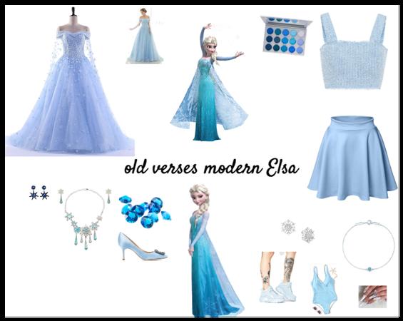 modern Elsa vs old Elsa