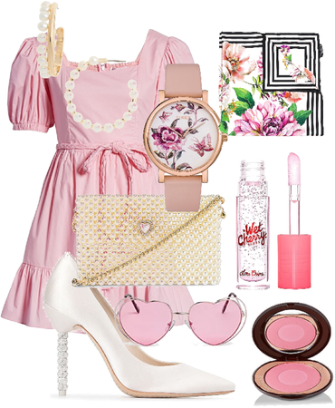 pearls + pink