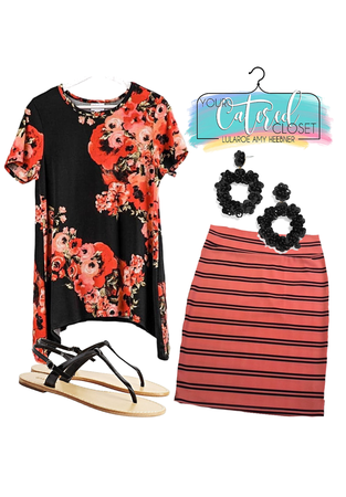 Coral and Black Melissa + Cassie