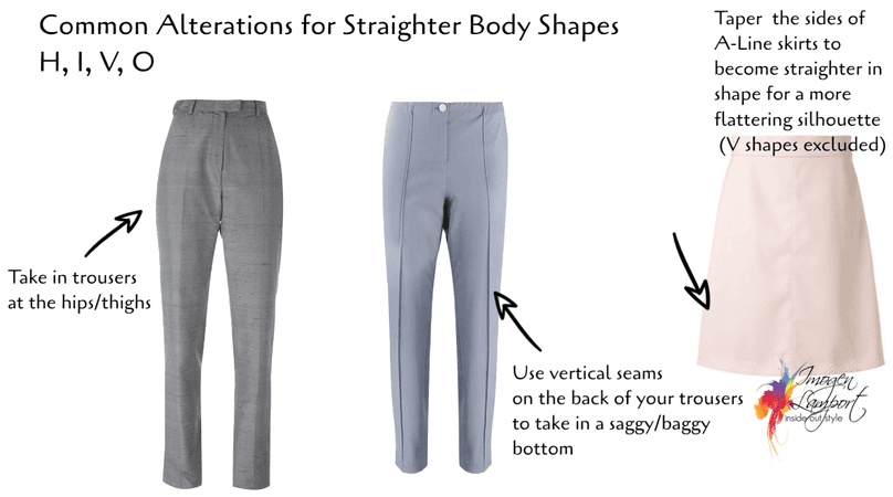 alterations for straight body shapes