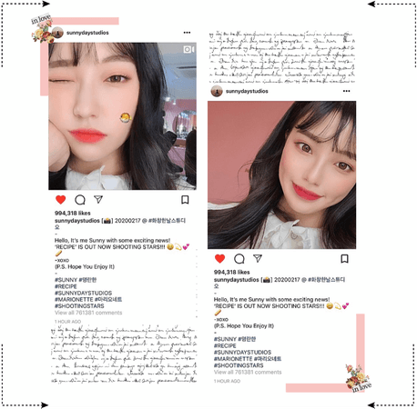 MARIONETTE (마리오네트) [SUNNY] Instagram Update