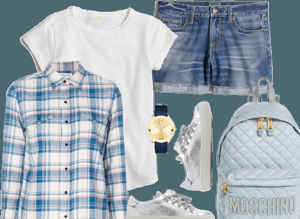 Plaid + Jeans