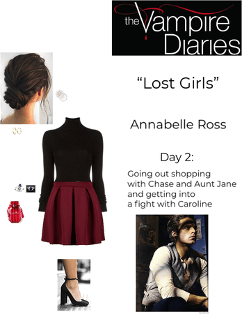 """TVD: """"Lost Girls"""" - Annabelle Ross - Day 2: Going out shopping with Chase and Aunt Jane and getting into a fight with Caroline"""