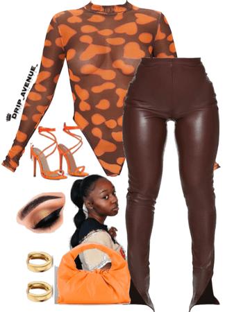 Orange + Brown