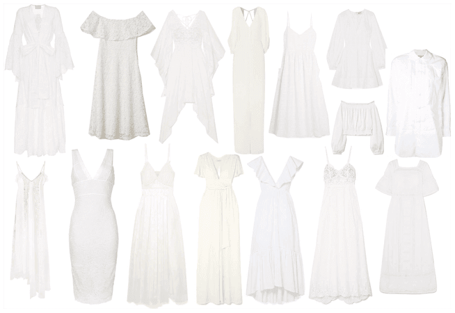 White Dress Collage