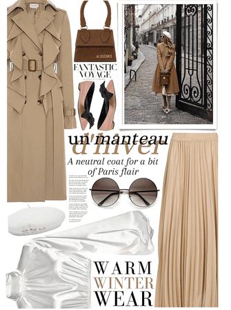 Un manteau d'hiver: a winter coat