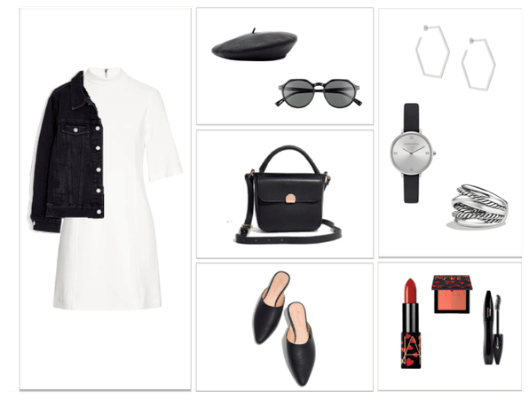 Black and White Spring Look