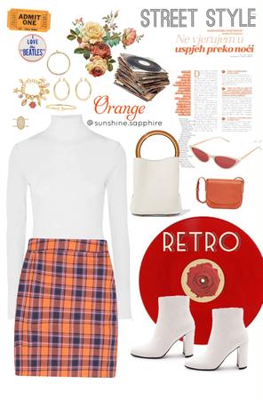 retro orange