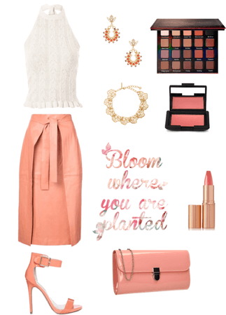 Peach and Coral Look