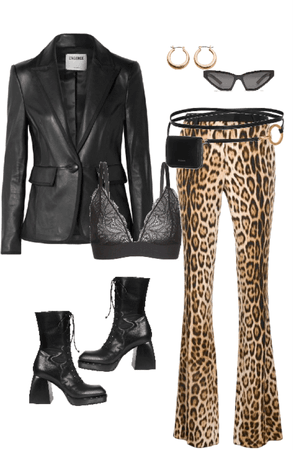 leather, leopard....and lace.
