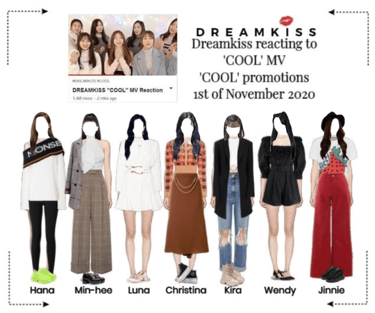 DREAMKISS [COOL] MV Reaction 201101