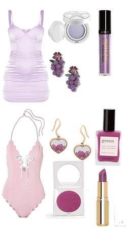 Sexy Purple Lingerie Duo
