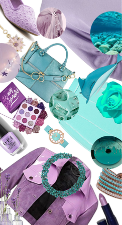 Point Of Hue: Lavender, Purple And Aqua