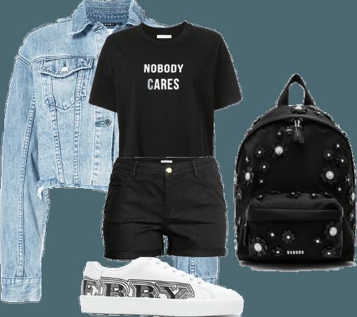 Careless school girl