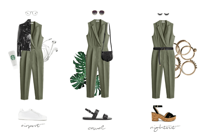 1 jumpsuit 3 ways