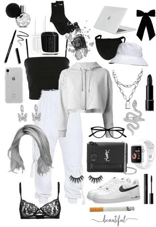 GREY, BLACK & WHITE