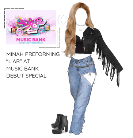 "Minah Preforming ""LIAR"" At Music Bank & Debut"
