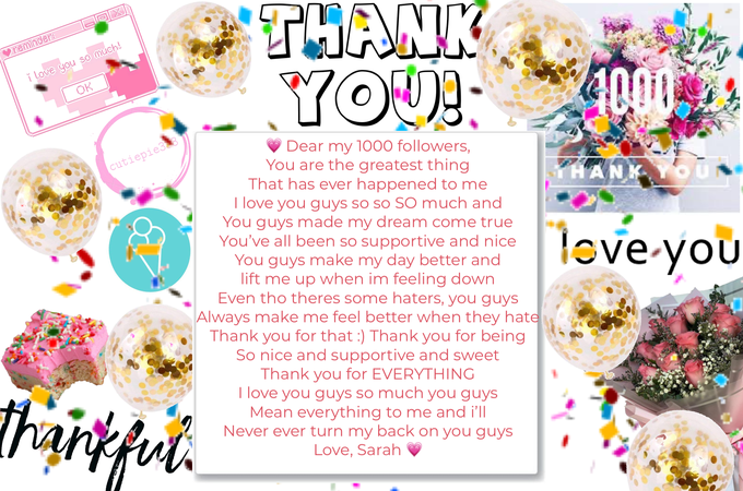 THANK YOU! I LOVE EVERY SINGLE ONE OF YOU 💗💗🥰🥰