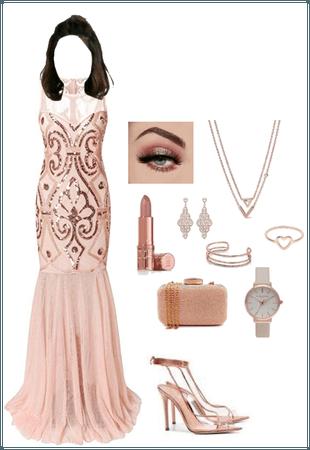 Rose Gold Gala Dress