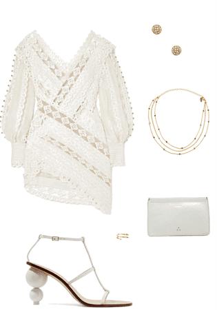 All White Dress Party by Kirah M