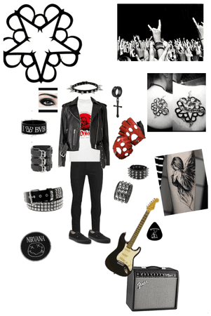 Emo gothic rocker