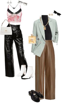 leather pant looks