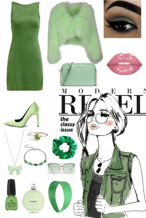 Women's All Green Outfit