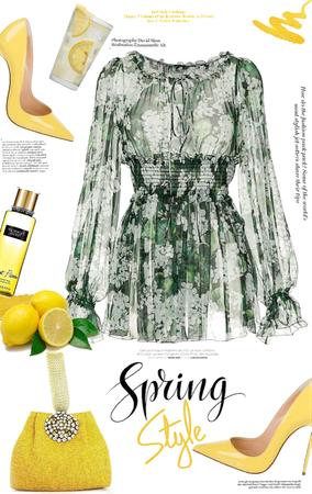 Spring Mini Dress 🍋