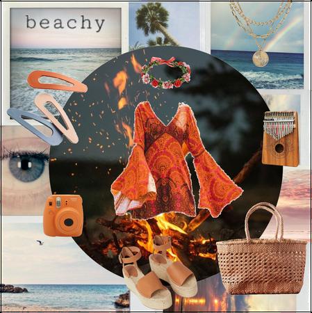 Boho Summer beach bonfire